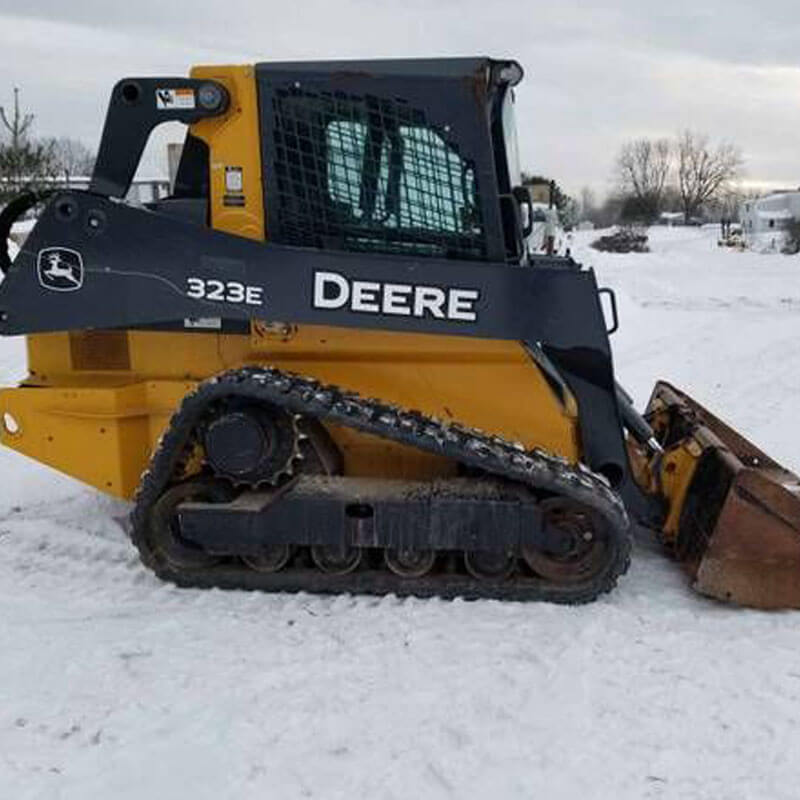 Commercial snow removal road salting 2
