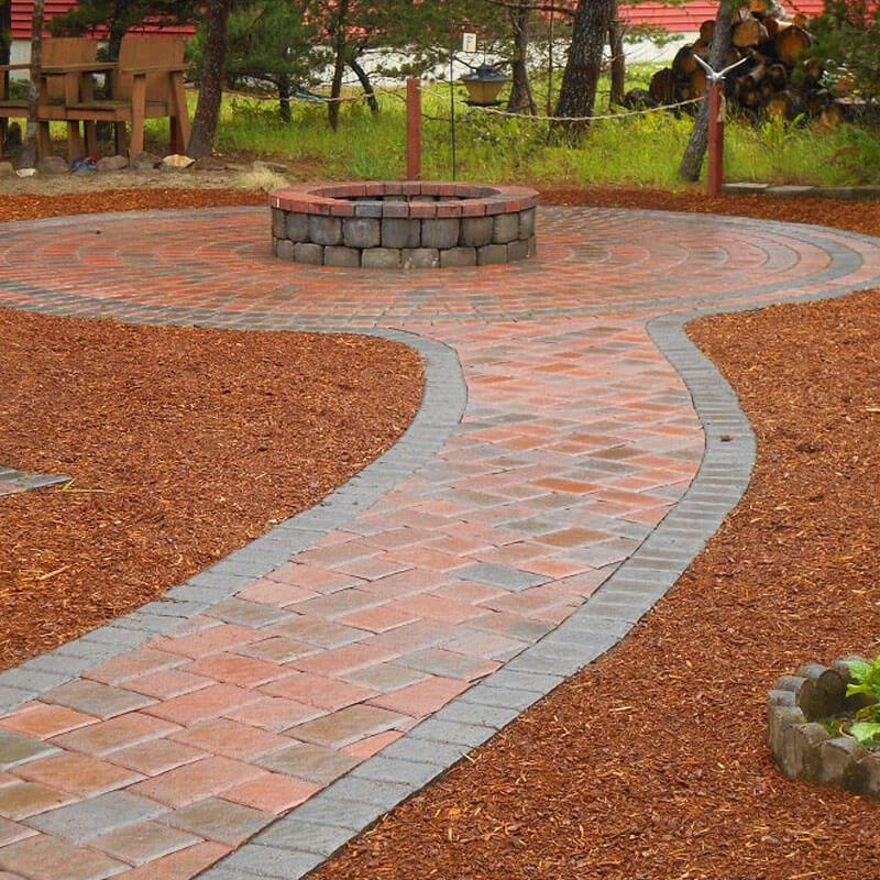 Firepit design with hardscaping mi 1