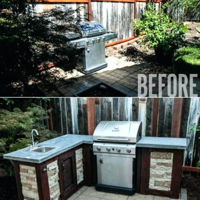 Patio kitchen construction mi before and after 1