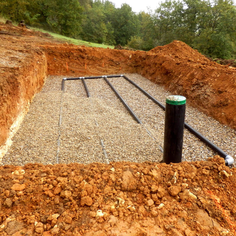 Sand and gravel drainage system contractors mi 1