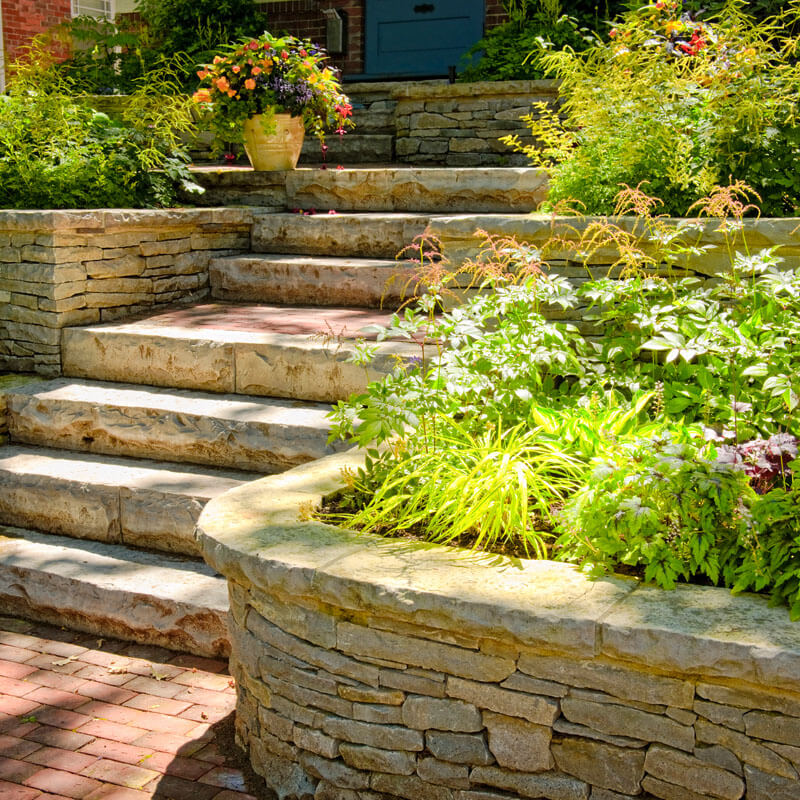 Stone landscaping services mi retaining wall builders 1